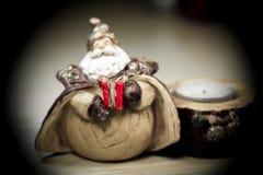 Ein Geschenk von Santa Claus Schwarzer Rauch Stockfoto