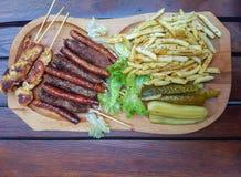 Ein geschmackvoller Teller der rumänischen Küche stockfoto