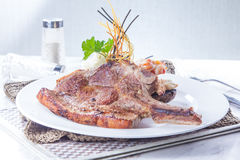 Ein geschmackvolles Küchefoto des Rindfleischsteaks Lizenzfreie Stockfotografie