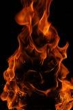 Ein Gesicht in den Flammen lizenzfreie stockbilder