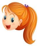 Ein Gesicht eines Mädchenlächelns Lizenzfreie Stockfotografie