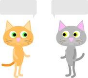 Ein Gespräch zwischen zwei Katzen lizenzfreie abbildung
