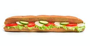 Ein gesundes Gemüsesandwich stockfotografie