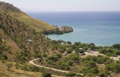 Ein getrenntes Dorf in Osttimor Stockbilder