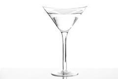 Ein getrenntes Martini-Glas Stockfotografie