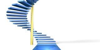 Ein gewundenes Treppenhaus Stockbilder
