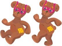 Ein glücklicher Karikatur-Teddybär Stockbild