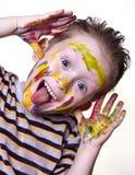 Ein glücklicher kleiner Junge Lizenzfreies Stockfoto