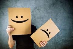 Ein glückliches Gesicht an setzen Lizenzfreie Stockbilder