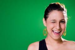 Ein glückliches Lächeln des Auges Stockfotografie