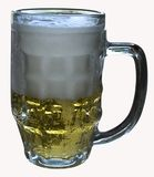 Ein Glas Bier Stockfotografie
