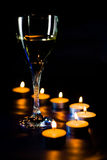 Ein Glas Champagner Stockfotos
