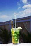 Ein Glas des mojito Cocktails Lizenzfreies Stockfoto