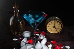 Ein Glas von Martini mit Zitrone Lizenzfreie Stockbilder