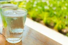 Ein Glas Wasser Stockbild