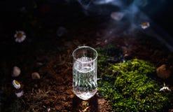Ein Glas Wasser aus den Grund Stockfotos