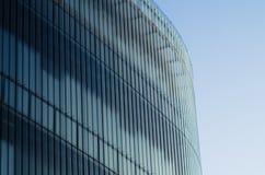 Ein Glasaufbau des modernen Architekturgebäudes Stockfotografie