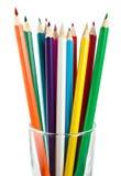 Ein Glascup mit Bleistiften Lizenzfreies Stockbild