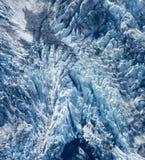 Ein Gletscher im Aoraki/Mt Kochen Sie National Park in der Südinsel in Neuseeland lizenzfreies stockbild