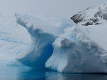 Ein Gletscher schmilzt u. friert in der Antarktis ein Lizenzfreies Stockbild