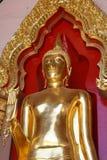 Ein goldener siamesischer Buddha Stockbild