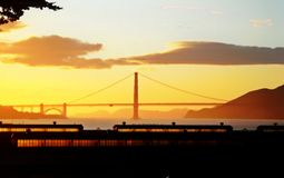 Ein goldener Sonnenuntergang Stockfoto
