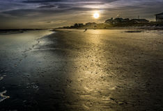Ein goldener Sonnenuntergang Lizenzfreies Stockbild