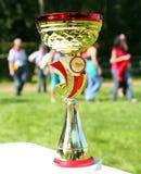 Ein Goldmeister-Trophäencup Stockbild
