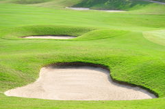 Ein Golfplatz Stockbilder