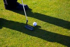 Ein Golfspieler Stockfoto