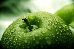 Ein grüner Apfel Lizenzfreies Stockbild