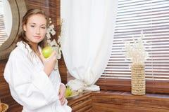 Ein grüner Apfel Lizenzfreie Stockfotografie