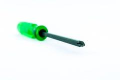 Ein grüner Schraubenzieher Stockfotos