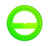 Ein grüner Winkelmesser Stockbild