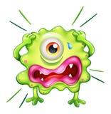 Ein grünes Monster in der Frustration Lizenzfreie Stockfotografie