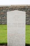 Ein Grab eines unbekannten deutschen SoldatWeltkriegs 1 stockfoto