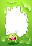 Ein Grenzdesign mit einem schreienden einäugigen Monster Lizenzfreie Stockfotos
