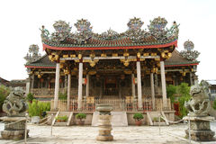 Ein großer großartiger majestätischer Clantempel in Penang Lizenzfreies Stockfoto