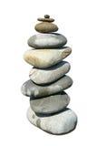 Ein großer Stapel Steine. Stockbild