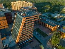 Ein großes Gebäude mit Labors und innovative Projekte, Erfindungen einer technischen Natur lizenzfreie stockbilder
