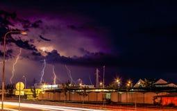 Ein großes Gewitter Stockfotografie