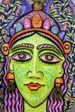 Ein großes Größenkönigingesicht, zum des bevorstehendes Bengali-neuen Jahres zu feiern Stockfotos