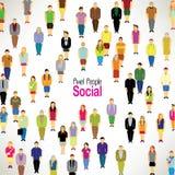 Ein großes Gruppe von Personenen-Versammlungsdesign Lizenzfreies Stockfoto