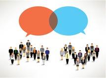 Ein großes Gruppe von Personenen-Versammlungsdesign Stockfoto