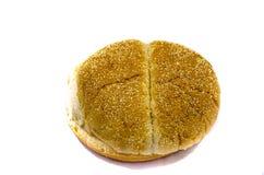 Ein großes Hamburgerbrötchen mit Samen Lizenzfreies Stockbild