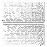 Ein großes rechteckiges Labyrinth mit einem Eingang und einem Ausgang Zwei Wahlen in der Ausrüstung Einfache flache Vektorillustr Stock Abbildung
