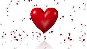 Ein großes rotes schlagendes Herz mit dem goldenen Pfeil, der durch überschreitet vektor abbildung