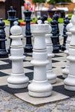 Ein großes Schachbrett Stockbilder
