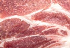 Ein großes Stück rohes Fleisch ist eins Stockbild