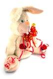 Ein großes weißes Kaninchen Lizenzfreie Stockbilder